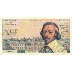 F 42-25 - 07/03/1957 - 1000 francs - Richelieu - Etat : TB à TB+
