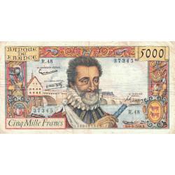 F 49-6- 06/03/1958 - 5000 francs - Henri IV - Etat : TB