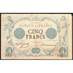 F 01-17 - 03/04/1873 - 5 francs - Noir - Etat : TB-