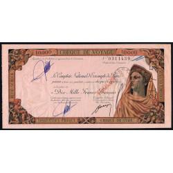 Chèque de voyage - 10'000 francs - 1958 - Casablanca - Etat : SUP