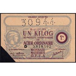 1 kg acier ordinaire - 30-09-1944 - Endossé - Etat : TTB+