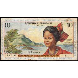 Antilles Françaises - Pick 8a - 10 francs - 1964 - Etat : TB+