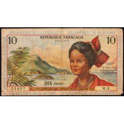 Antilles Françaises - Pick 8a - 10 francs - 1964 - Etat : TB-