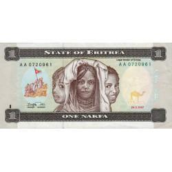 Erythrée - Pick 1 - 1 nakfa - 1997 - Etat : TTB