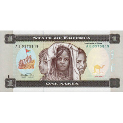 Erythrée - Pick 1 - 1 nakfa - 1997 - Etat : NEUF