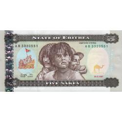 Erythrée - Pick 2 - 5 nakfa - 1997 - Etat : NEUF