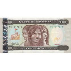 Erythrée - Pick 3 - 10 nakfa - 1997 - Etat : TTB