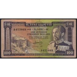 Ethiopie - Pick 29 - 100 ethiopian dollars - 1966 - Etat : TB-