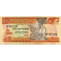 Ethiopie - Pick 42b - 5 birr - 1991 - Etat : NEUF