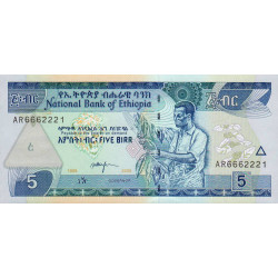 Ethiopie - Pick 47d - 5 birr - 2006 - Etat : NEUF
