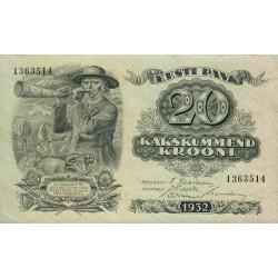 Estonie - Pick 64 - 20 krooni - 1932 - Etat : pr.NEUF