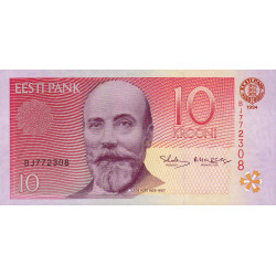 Estonie - Pick 77 - 10 krooni - 1994 - Etat : NEUF