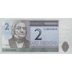 Estonie - Pick 85b - 2 krooni - 2007 - Etat : NEUF