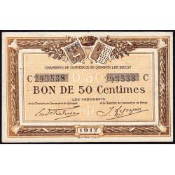 Quimper et Brest - Pirot 104-07-C - 50 centimes - Etat : SUP
