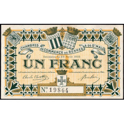 Rennes et Saint-Malo - Pirot 105-3 - 1 franc - Etat : SUP