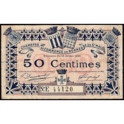 Rennes et Saint-Malo - Pirot 105-21-E - 50 centimes - Etat : TB