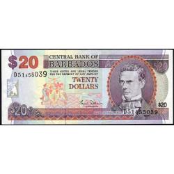 Barbade - Pick 63A - 20 dollars - 2000 - Etat : SUP
