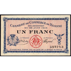 Roanne - Pirot 106-01 - 1 franc - Etat : SPL