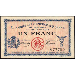 Roanne - Pirot 106-02b - 1 franc - Etat : SUP+