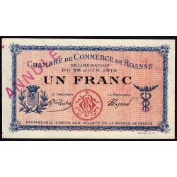 Roanne - Pirot 106-03 - 1 franc - Annulé - Etat : NEUF