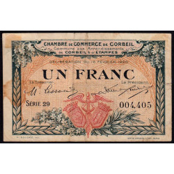 Corbeil - Pirot 50-03 - 1 franc - Etat : TB-