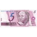 Brésil - Pick 244Af - 5 reais - 2003 - Etat : SUP