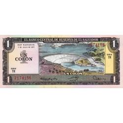 El Salvador - Pick 125a_1 - 1 colon - 1977 - Etat : NEUF