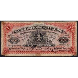 El Salvador - Pick S 161b - 1 peso - Série A - 1913 - Etat : B-