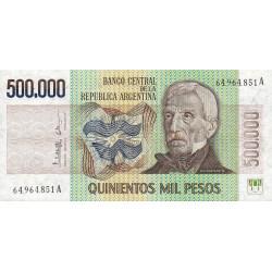 Argentine - Pick 309_2 - 500'000 pesos - Série A - 1980 - Etat : NEUF