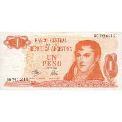 Argentine - Pick 287_4 - 1 peso - Série D - 1970 - Etat : TB+
