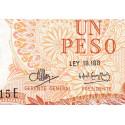 Argentine - Pick 287_4 - 1 peso - Série E - 1970 - Etat : SPL