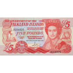 Falkland (iles) - Pick 12 - 5 pounds - 1983 - Commémoratif - Etat : SPL