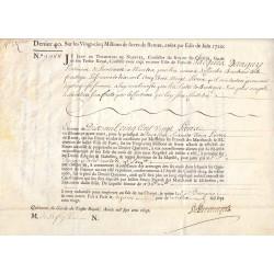 Seine - Paris - Louis XV - Emprunt royal de 1720 - Denier 40 - Sign. 2 - Etat : SUP