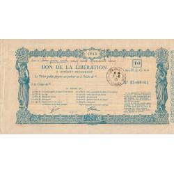 Bon de la Libération - 1945 - 10'000 francs - Etat : TTB+