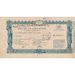 Bon de la Libération - 1945 - 10'000 francs - Etat : TTB-