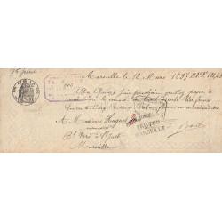 13 - Marseille - Droit prop. - 1893 - 10 centimes - Etat : TTB