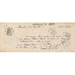 13 - Marseille - Droit prop. - 1896 - 15 centimes - Etat : TTB+