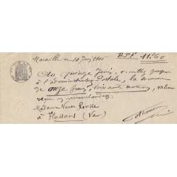 13 - Marseille - Droit prop. - 1902 - 10 centimes - Etat : SUP+