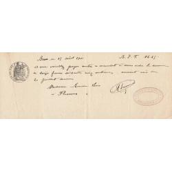 83 - Besse-sur-Issole - Droit prop. - 1908 - 5 centimes - Etat : SUP