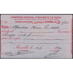 Comptoir National d'Escompte de Paris - 1914 - Etat : SUP
