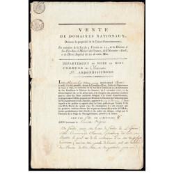 Yvelines - Chevreuse - 1er empire - Vente domaines nationaux - Etat : TTB