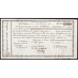 Gironde - Bazas - Louis XVIII - 100 francs - 1815 - Etat : TTB+