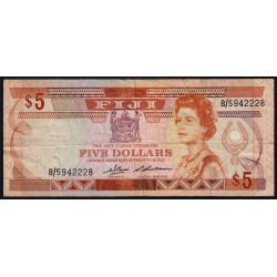 Fiji - Pick 83 - 5 dollars - 1986 - Etat : TB