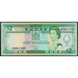 Fiji - Pick 87 - 2 dollars - 1988 - Etat : NEUF