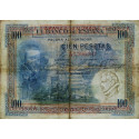 Espagne - Pick 69a - 100 pesetas - 1925 - Série A - Etat : TB-