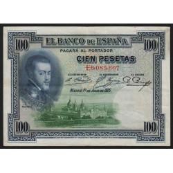 Espagne - Pick 69c - 100 pesetas - 1936 - Série E - Etat : TTB