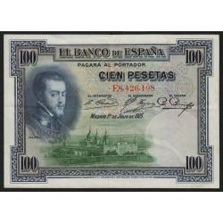 Espagne - Pick 69c - 100 pesetas - 1936 - Série E - Etat : SUP