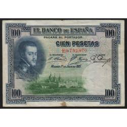 Espagne - Pick 69c - 100 pesetas - 1936 - Série E - Etat : TB