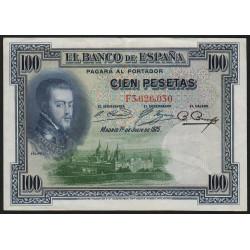 Espagne - Pick 69c - 100 pesetas - 1936 - Série F - Etat : SUP