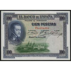 Espagne - Pick 69c - 100 pesetas - 1936 - Série F - Etat : SPL